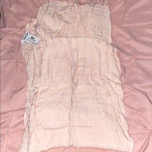 Lacoste light pink striped blanket scarf